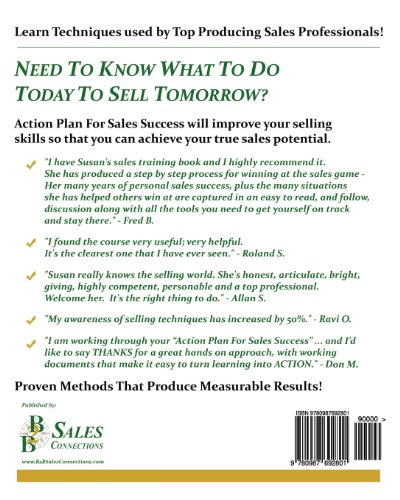Action Plan For Sales Success: Not just what to do, but how to do it!
