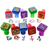 Stamps for Kids - Best Rubber Self Inking Animal Stamp Set - Lifetime Guarantee