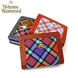 Vivienne Westwood ヴィヴィアン ウエストウッド 財布 10TARTAN タータン ミニがま口 二つ折り 全3色 オレンジ レッド 並行輸入品