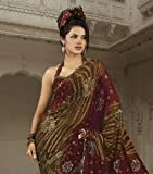 Georgette Designer Trendy Saree Latest Fashion Sari