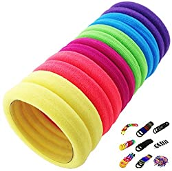 iOna Beauty Essentials Hair Pony Tail Holder Ponios Elastic Rope Rubber Band PT10SET1E for Girls 6