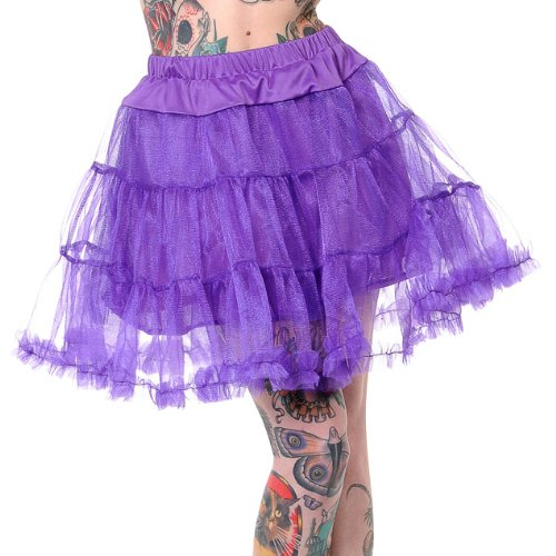 Banned Petticoat SWING TUTU SHORT purple kaufen