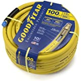 Goodyear EP 46566 1/2-Inch by 100-Feet 300 PSI Rubber Air Hose with 1/2-Inch MNPT Ends and Bend Restrictors