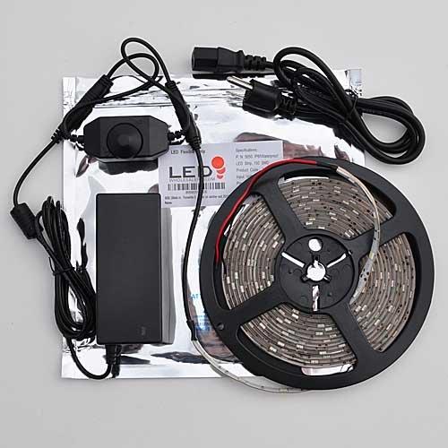 Ledwholesalers Waterproof Epoxy Gel Coating Led Strip Kit 150 Led Smd5050 Inline Dimmer And Power Supply,2031Ww+3318+3215