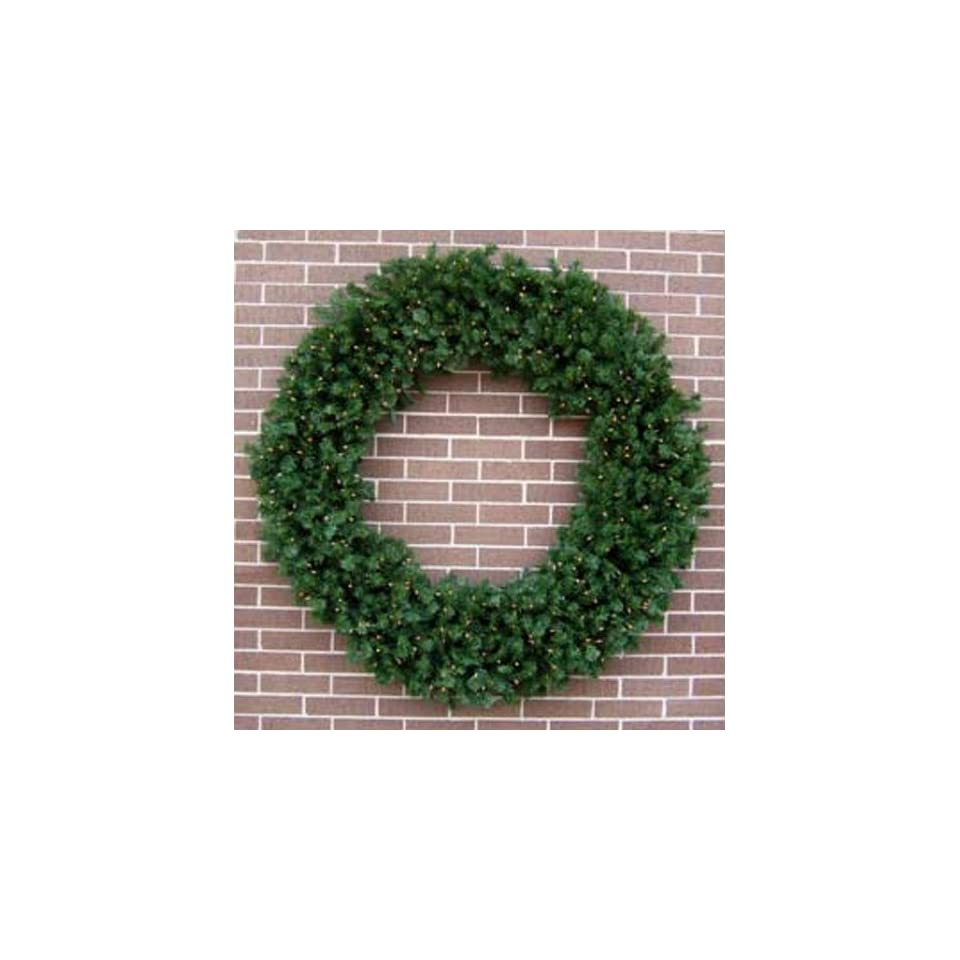 60 inch Deluxe Valley Pine Prelit Artificial Large Christmas Wreaths [MTX16239B]