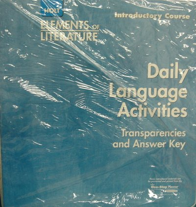 Daily Language Activities (Elements of Literature) [Ring-bound] by