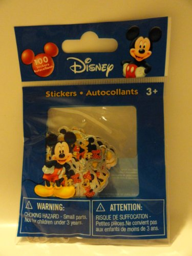 100 Mickey Mouse Die Cut Stickers in Bag