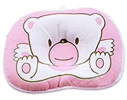 niceeshop(TM) Pink Bear Soft Cotton Baby Infant Toddler Sleeping Flat Head Support Pillow Positioner