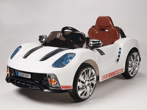 Remoted Controlled 918 Style Kids 12V Battery Powered Wheels Ride On Car White Sports Car