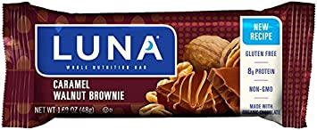 Luna Bars, Caramel Nut Brownie, 48 g (Pack of 15) [Kohlenhydrate]
