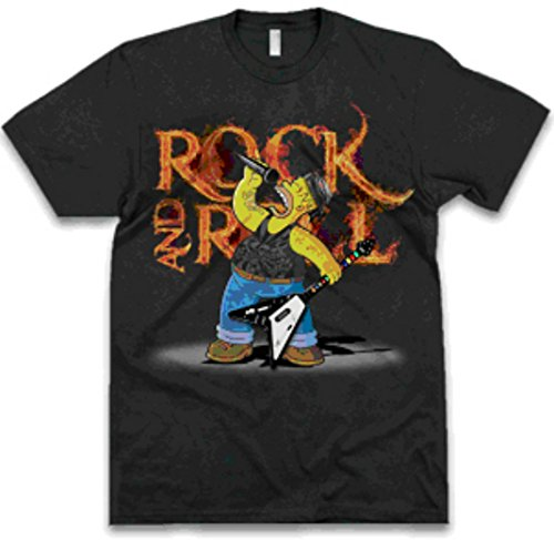The Simpsons Homer Rock T-shirt Large