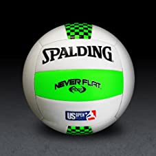 NeverFlat/US Open - Green/White Volleyball