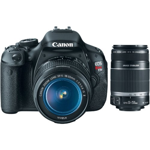 Eos Rebel T3I Slr Camera, Ef-S 18-55Mm Is Ii Lens And Ef-S 55-250Mm F/4-5.6 Is Telephoto Zoom Lens