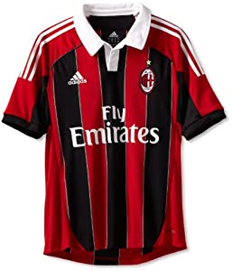 AC Milan Soccer Home Jersey, Small, Red/Black/White
