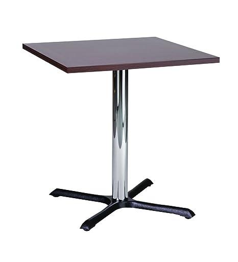 Tavolo da pranzo Roza wenge 60cm quadrato piccolo compatto con base cromata