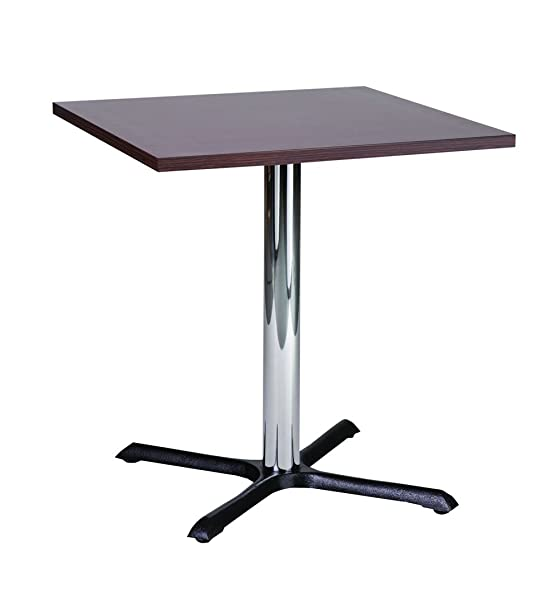 Tavolo da pranzo Roza wenge 70cm quadrato piccolo compatto con base cromata