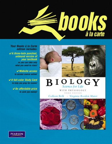 Books a la Carte for Biology: Science for Life with Physiology & Study Card (3rd Edition)
