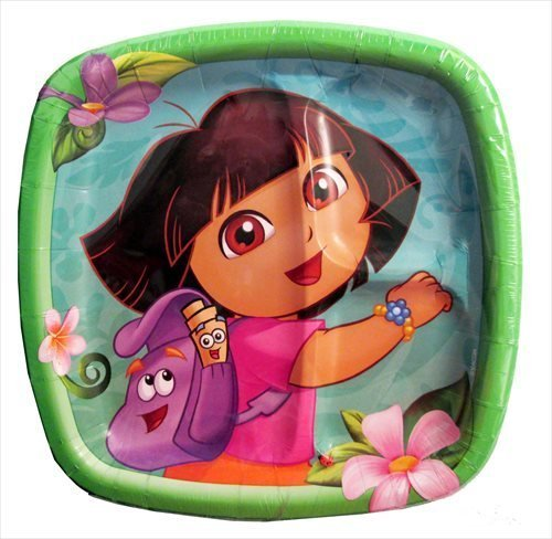 Dora the Explorer 'Flower Adventure' Large Paper Pocket Plates (8ct)