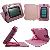 Pink Vtech InnoTab 2 Tablet Synthetic PU Leather Pad Stand Wallet Carry Case Cover