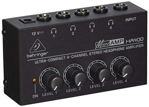 behringer-ha400-microamp-4-channel-stereo-headphone-amplifier