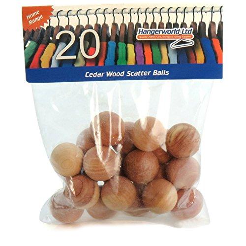 Hangerworld - Lot de 20 boules anti mites en bois de cèdre.