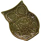 Owl Tidbit Plate - Green