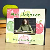Patch Work Apples Personalized Picture Frames for Teachers