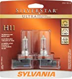 Sylvania H11 SU SilverStar Ultra Halogen Headlight Bulb- (Pack of 2)