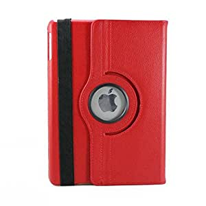 CenterPoint 360 Degree Rotation Leather IPad Mini Case Cover in Red Color for IPad Mini 2/3