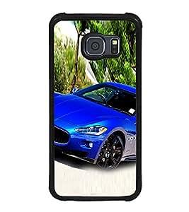 Luxury Blue Car 2D Hard Polycarbonate Designer Back Case Cover for Samsung Galaxy S6 G920I :: Samsung Galaxy G9200 G9208 G9208/SS G9209 G920A G920F G920FD G920S G920T