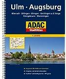 ADAC StadtAtlas Ulm/Augsburg mit Biberach, Dillingen, Ehingen, Geislingen a.d.St: eige, Königsbrunn, Memmingen 1:20 000