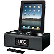 iHome iD84BZ App-Enhanced Dual Alarm Clock Radio for iPad/iPhone/iPod with AM/FM Presets (Black)
