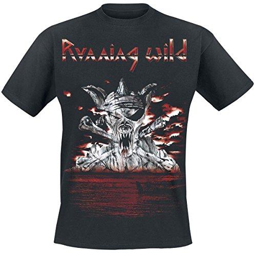 Running Wild Bloody Island T-Shirt nero XL