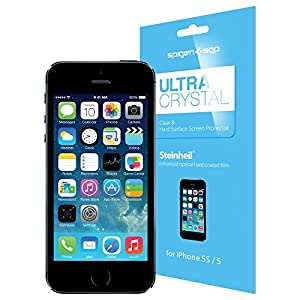 SPIGEN SGP iPhone 5 Screen Protector Clear Steinheil Ultra Crystal [2-Pack] film cover shield for AT&T, Verizon, Sprint, International - CLEAR