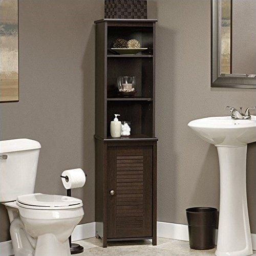 Sauder Peppercorn Linen Tower (Linen Cabinet Corner compare prices)
