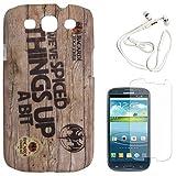 DMG Night Glow Hard Back Cover Case For Samsung Galaxy S3 Neo GT-I9300I (Bacardi) + White Earphones + Matte Screen...