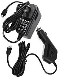 Pwr+ Extra Long 6.5ft Combo 2.1a Rapid Charger Ac Adapter + Car Charger for Google Nexus 7, 9, 10 Tablet Tab; Samsung Galaxy Tab 3, 4 7.0, Note 8.0; Nexus S Phone ; Asus Memo Pad 7, 8, 10 Hd FHD Smart, Asus Transformer Book T100ta; Galaxy S2, S3, S4, S6 Edge; HTC Phone Power Supply Cord