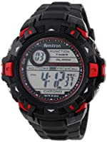 Armitron Men's 40/8297RED Sport Metallic Red Accented Black Resin Strap Chronograph Digital Sport Watch from Armitron