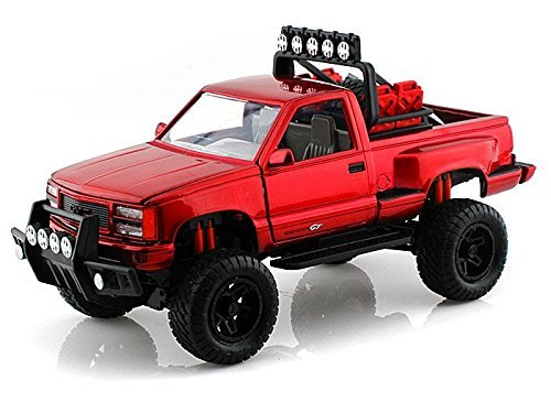 1992-gmc-sierra-gt-pickup-off-road-1-24-red-by-collectable-diecast