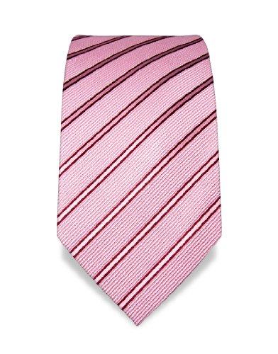 VB Cravate - rose, bordeaux - rayé a83a90aca45