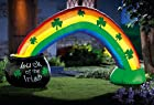 Pot Of Gold W/ Rainbow Lighted St. Patrick's Day Inflatable By Collections Etc