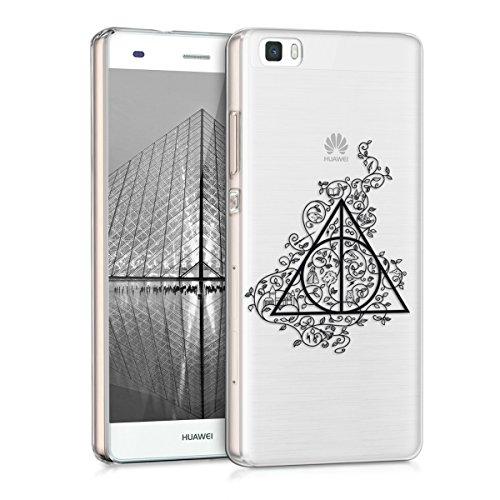 kwmobile-custodia-tpu-silicone-crystal-per-huawei-p8-lite-colore-nero-trasparente-design-triangolo-m