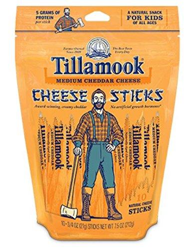 Tillamook Medium Cheddar Cheese Sticks 7.5 Oz (Pack of 4) (Organic Cheese Block compare prices)