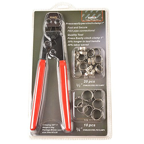 IWISS PEX Cinch Crimping Tool for Clamps Sizes from 3/8