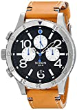 Picture Of Nixon Men's A3631602 48-20 Chrono Leather Watch