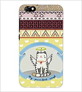 PrintDhaba Angel Cat D-4625 Back Case Cover for HUAWEI HONOR 4X (Multi-Coloured)