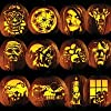 Pumpkin Carving Tattoo Patterns, Classic Frigthful Party Pack
