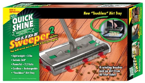 Holloway House 1275-00001A Quick Shine Cordless Glide Sweeper