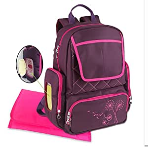 buy yodo backpack diaper bag for mommy and baby purple. Black Bedroom Furniture Sets. Home Design Ideas