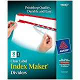 Avery Index Maker White Dividers with Red Tabs, 8-Tab, 5 Sets (11413)